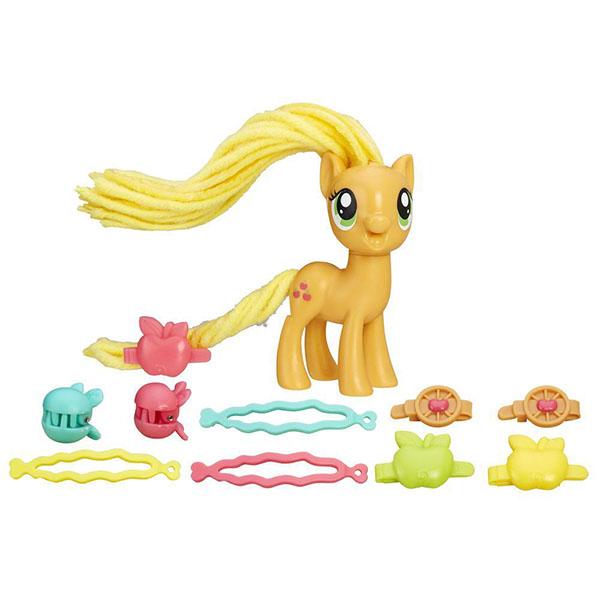 Игрушка Пони с праздничными прическами Эпплджек My Little Pony Hasbro