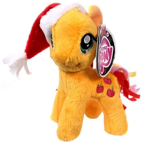 Мягкая игрушка Эпплджек в Новогодней шапке 12 см Applejack My Little Pony Aurora