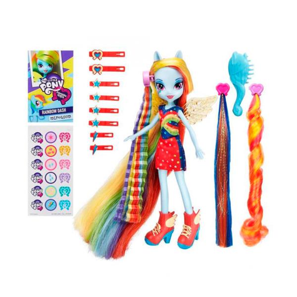 Кукла Сделай мне прическу Радуга Дэш Equestria Girls Hasbro