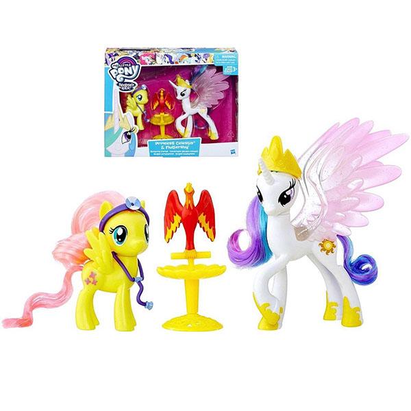 Набор фигурок Принцесса Селестия и Флаттершай Пони-модницы My Little Pony Hasbro
