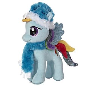 Мягкая игрушка Радуга Деш Новогодняя 25 см Rainbow Dash Winter My Little Pony Aurora