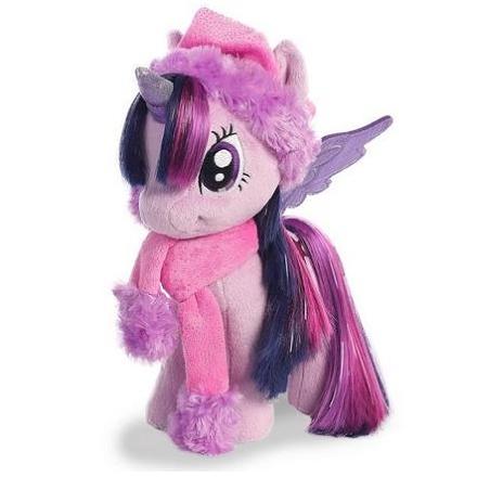 Мягкая игрушка Твайлайт Спаркл Новогодняя с шарфом 25 см Twilight Sparkle Winter My Little Pony Aurora